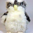 """Gund Owl Hooten Stuffed Animal Plush #12026 White Smoke Grey Beanie 8"""" Retired"""