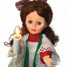 Animated Motionette Christmas Choir Girl Display Arts Red Head Lighted Candle