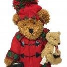 RARE Dan Dee Momma Bear & Cub Plush Hugging Christmas Holiday HTF Pom Pom Hat