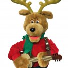 """Telco Reggie Rockin Reindeer Animated Musical Singing Holiday Motionette Toy 24"""""""