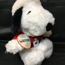 "Hallmark Snoopy as Santa Plush Peanuts Gang Dog Stuffed Animal 9"" sitting TAG"