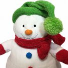 Hallmark RARE HTF Christmas Plush Snowman Stuffed Animal Knit Hat & Scarf 12""