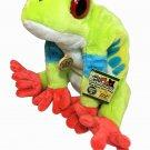 "Wild Republic Red Eye Tree Frog Plush Green 12"" Stuffed Animal Cuddlekins"