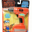 Black + Decker Jr. Electronic Power Drill Kids Pretend Play Tool Real Action