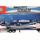 NY Giants Football 2003 Limited Edition Kenworth Tractor Trailer Toy Truck 1:80