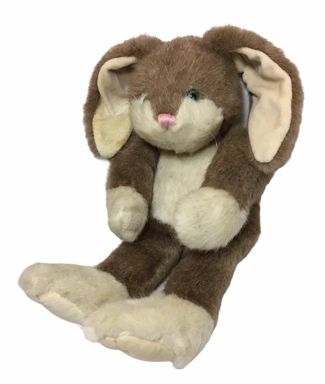 "RARE HTF Boyds Bears Bunny Rabbit Brown Cream Plush Stuffed Animal 14"" Pixie"