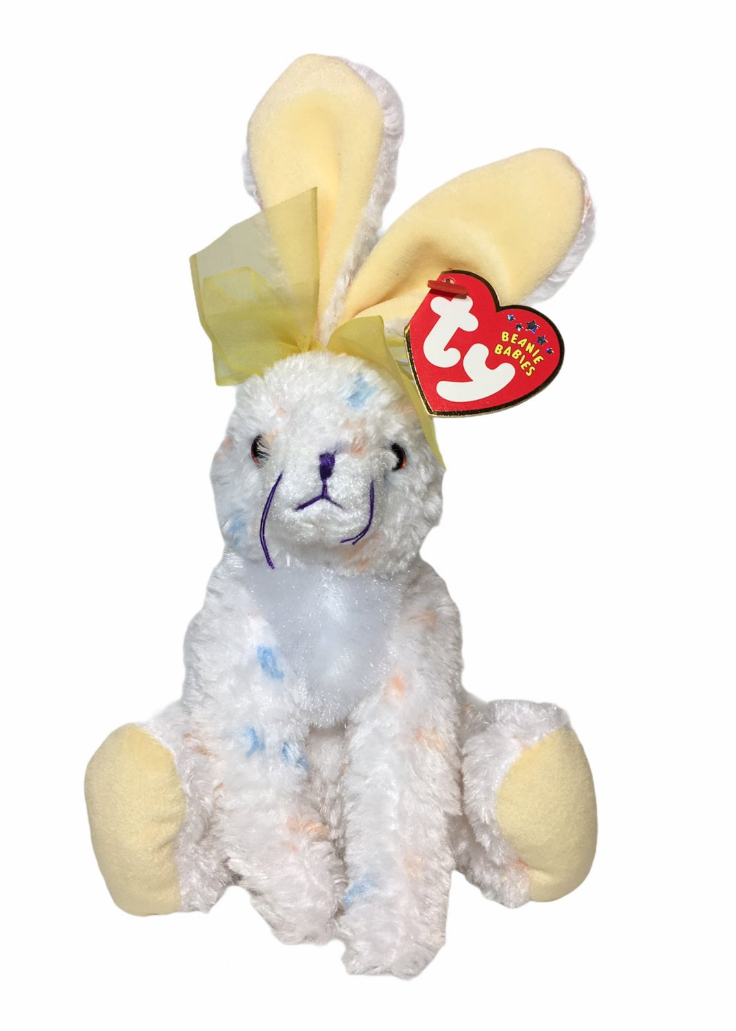 TY Beanie Baby CARROTS Bunny Rabbit Speckled Easter Stuffed Plush 2001 Toy TAG