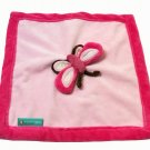 Tiddliwinks Butterfly Pink Red Plush Security Blanket Baby Girl Blankie Lovey