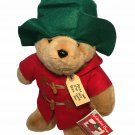 "Eden Paddington Teddy Bear Macys Plush Doll Green Hat Red Coat Hoodie 15"" TAGS"