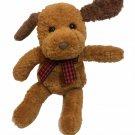 "Gund Frisky Puppy Dog Plush Brown Stuffed Animal MINI Bean Bag 6 1/2"" - #5357"
