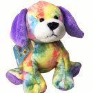 Ganz Webkinz Tie Dyed Puppy Dog Plush Bean Bag Stuffed Animal Sealed Tag HM385