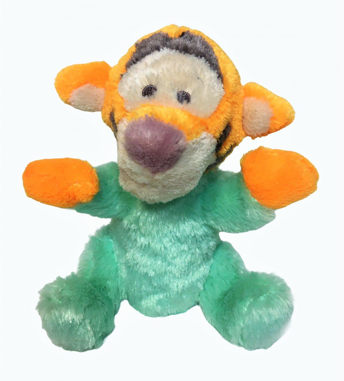 "Disney Tigger Baby Rattle Chime Plush Stuffed Animal Toy Mint Green Pastel 8"""