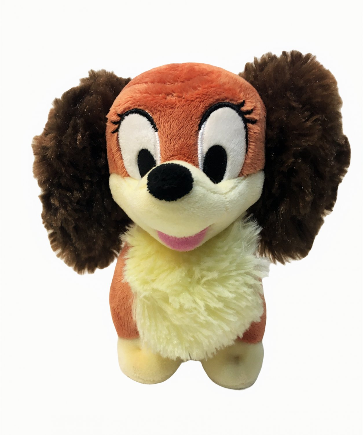 "Disney Store Exclusive Lady Plush Brown Stuffed Animal Puppy Dog 6"" Lady & Tramp"