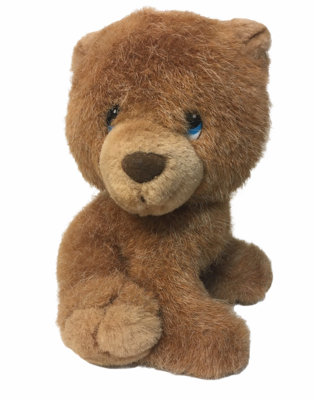 "Vintage Russ Sandy Bear Cub Caress Soft 'n Suede Pet Plush Stuffed Animal 7"""