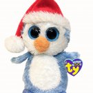 Ty Beanie Boo Boos Fairbanks Penguin Blue White Plush Holiday Bean Bag 6in. TAGS