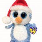 Ty Beanie Boo Boos Fairbanks Penguin Blue White Plush Holiday Bean Bag 6in. TAGS