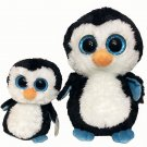 TY Beanie Boos Waddles 6in. & 9in. Glitter Eyes Stuffed Plush Tags Penguins