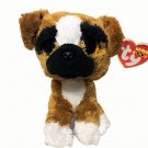 Ty Beanie Boos BRUTUS Boxer Dog (6 Inch) Plush Stuffed Animal Boo TAGS 2015