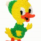 Vintage Melted Plastic Popcorn Baby Duckling Chick Xmas Wall Hanging Decoration