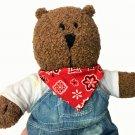 "Baby Gap Brannan Teddy Bear in Overalls Stuffed Animal Plush Brown Toy 13"""
