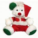 Vintage 1991 Fisher Price Puffalump Mouse White Plush Stuffed Animal Christmas