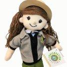 "Park Ranger Service Female Plush Girl Doll Toy Wildlife Artists Yarn Hair 11"""