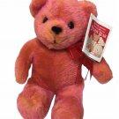 Avon Plush Teddy Bear 100th Anniversary Orange Musical Talking Stuffed Animal