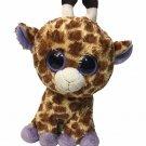 "TY Beanie Boos SAFARI Giraffe Plush SOLID Purple Eyes 9"" inch Stuffed Animal"