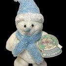 """Commonwealth Meltin The Snowman Plush White & Blue Snow Man Sparkles 11"""" Toy"""