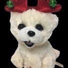RARE Bichon Frise Animated Musical White Maltese Puppy Dog Jingle Bells Sound