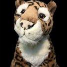 "RARE Leopard Cheetah People Pals Stuffed Animal Plush LARGE Jaguar Cat 18"""