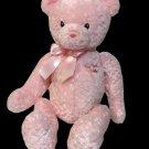 "Baby Gund My First Pink Teddy Bear Stuffed Animal Plush Sewn Eyes Pink Bow 15"""