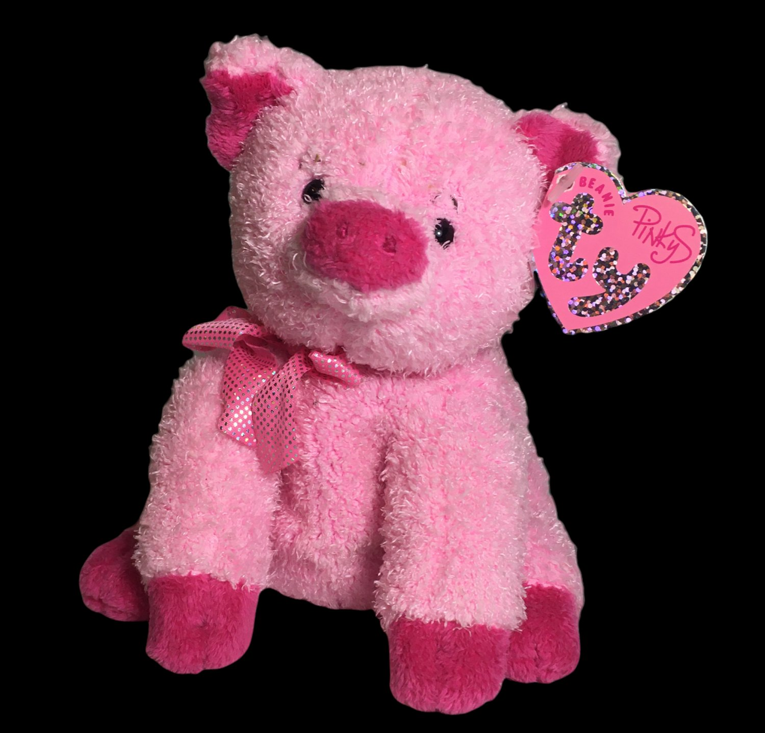 """Ty Pinkys Beanie Baby Silky Pig Pink 6"""" Plush Stuffed Animal Toy 2004 Retired"""