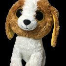 """Ty Cookie Beanie Boo Boos Plush Brown Puppy Dog LAGRE 9"""" in. Solid Eyes- No Tag"""