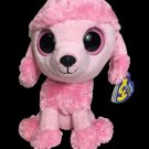 """Ty Beanie Boos PRINCESS Pink Poodle Dog 6"""" Plush Boo (Solid Eyes - 2013 Tags)"""