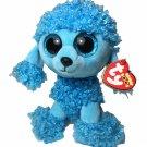 Ty Beanie Boos MANDY Blue Poodle Dog (6 Inch) NEW w/ TAGS Sparkle Eyes