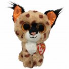 "Ty Beanie Boos Buckwheat Lynx Leopard Cheetah Bobcat TAGS 6"" Orange Glitter eyes"