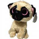 TY Beanie Boos PUGSLY Pug Dog (Solid Eye Color) (6 inch) Plush Boo Toy TAGS