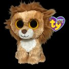 Ty Beanie Boos King the Lion Plush Brown Jungle Cat Baby Boo Stuffed Animal TAGS