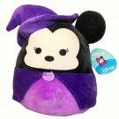 "RARE Squishmallow Disney Minnie Mouse Witch Halloween NWT 16"" Plush Purple Black"
