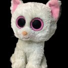Ty Beanie Boos Cashmere Cat White Pink Plush Kitten Stuffed Animal 6in. No Tag