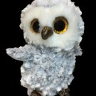 TY The Beanie Boo's Owlette the Ty Owl Gray Plush Stuffed Animal -No Tag ty 6in.