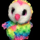 Ty Beanie Boos Owen the Owl Colorful Beanbag Plush 2017 -No Heart Tag 6inch Toy