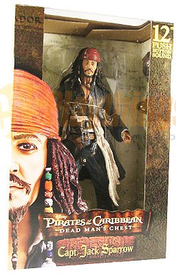"NECA PIRATES OF CARIBBEAN Dead Man's Chest 12"" inch Captain JACK SPARROW"