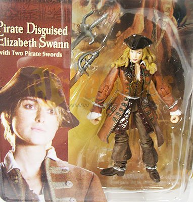 """PIRATES OF CARIBBEAN Dead Man's Chest Pirate 3"""" Disguised Elizabeth Swann"""