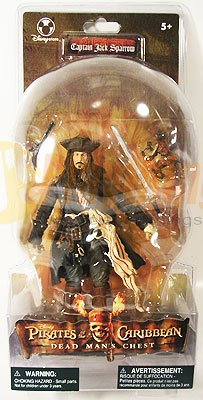 DISNEY PIRATES OF CARIBBEAN Captain JACK SPARROW  Dead Man's Chest  EXCLUSIVE