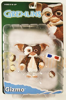 NECA GREMLINS Action Figure GIZMO w/ Fur Balls 3D Glasses