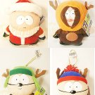 South Park Holiday Xmas Ornament Plush set of Cartman Kenny Kyle Stan