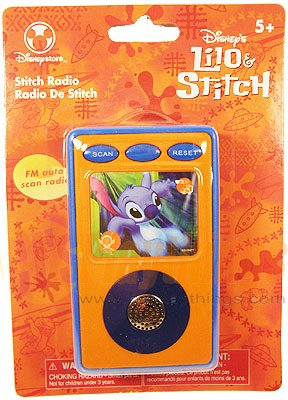 Authentic Disney Store Exclusive Stitch Radio FM