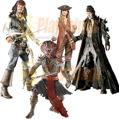 PIRATES OF CARIBBEAN Dead Man's Chest series 2 Set Jack Bootstrap Bill Elizabeth Swann Palifico